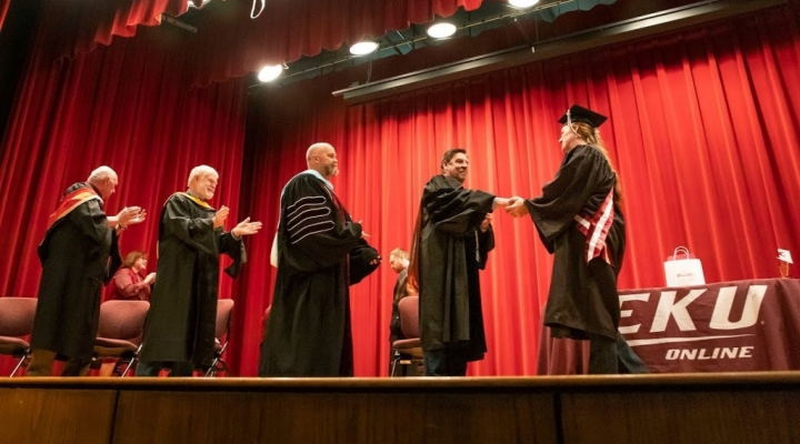 Active Duty Student Amy Blades Graduation Ceremony